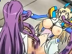 Anime Gets Holes Drilled By Tentacles